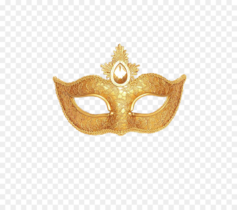 Gold Masquerade Mask Clipart png download.