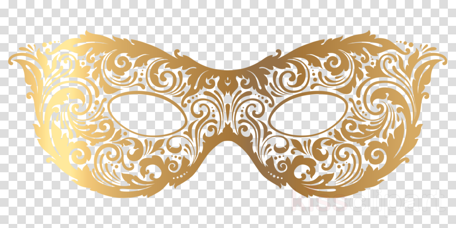 Gold Masquerade Mask Clipart clipart.