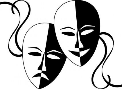 Masques De Théâtre Wasat Clip Art.