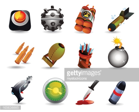 Weapons Of Mass Destruction Vector Art.