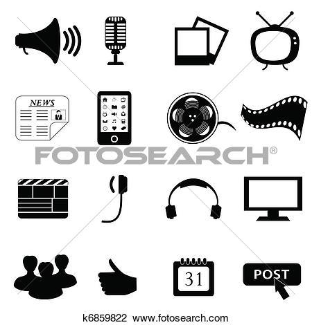 Mass media Clipart Illustrations. 1,131 mass media clip art vector.