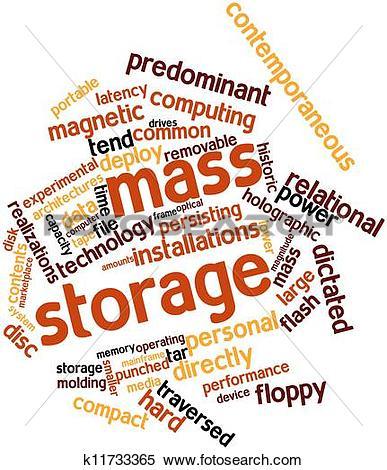 Stock Illustration of Mass storage k11733365.