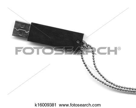 Stock Photography of USB key mass storage unit isolated with soft.