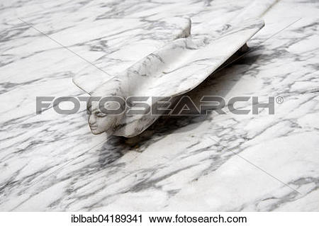 Stock Photography of Marble hood ornament on a Cadillac sculpture.