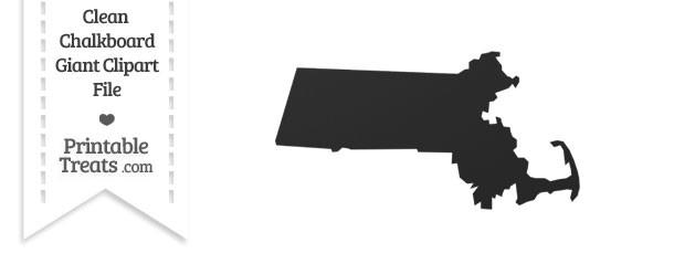 Clean Chalkboard Giant Massachusetts State Clipart — Printable.