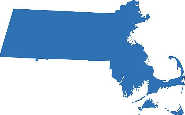 Best Massachusetts Map Illustrations, Royalty.