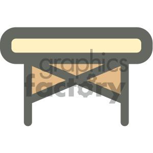 folding massage bed furniture icon . Royalty.