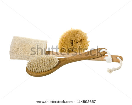 Bath Massage Scrub Brush Stock Photos, Royalty.