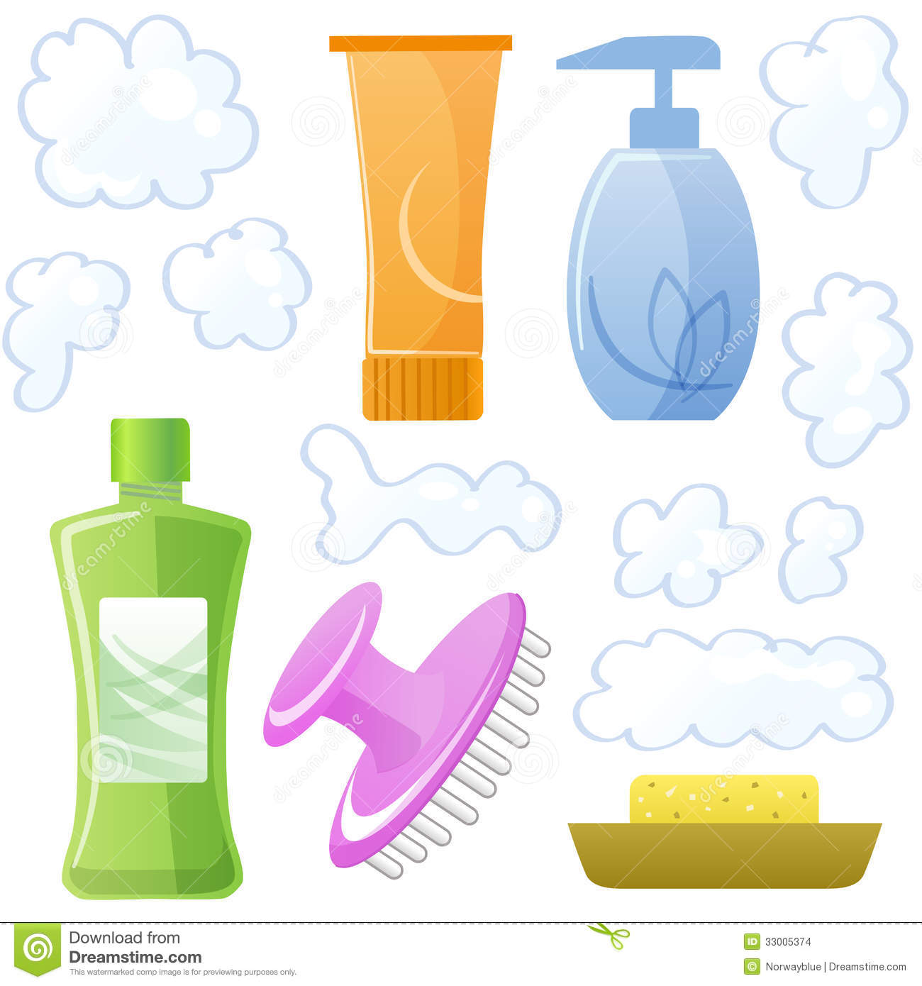 Bottles Of Body And Hair Care And Beauty Products Stock Images.