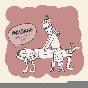 Chair Massage Clipart.