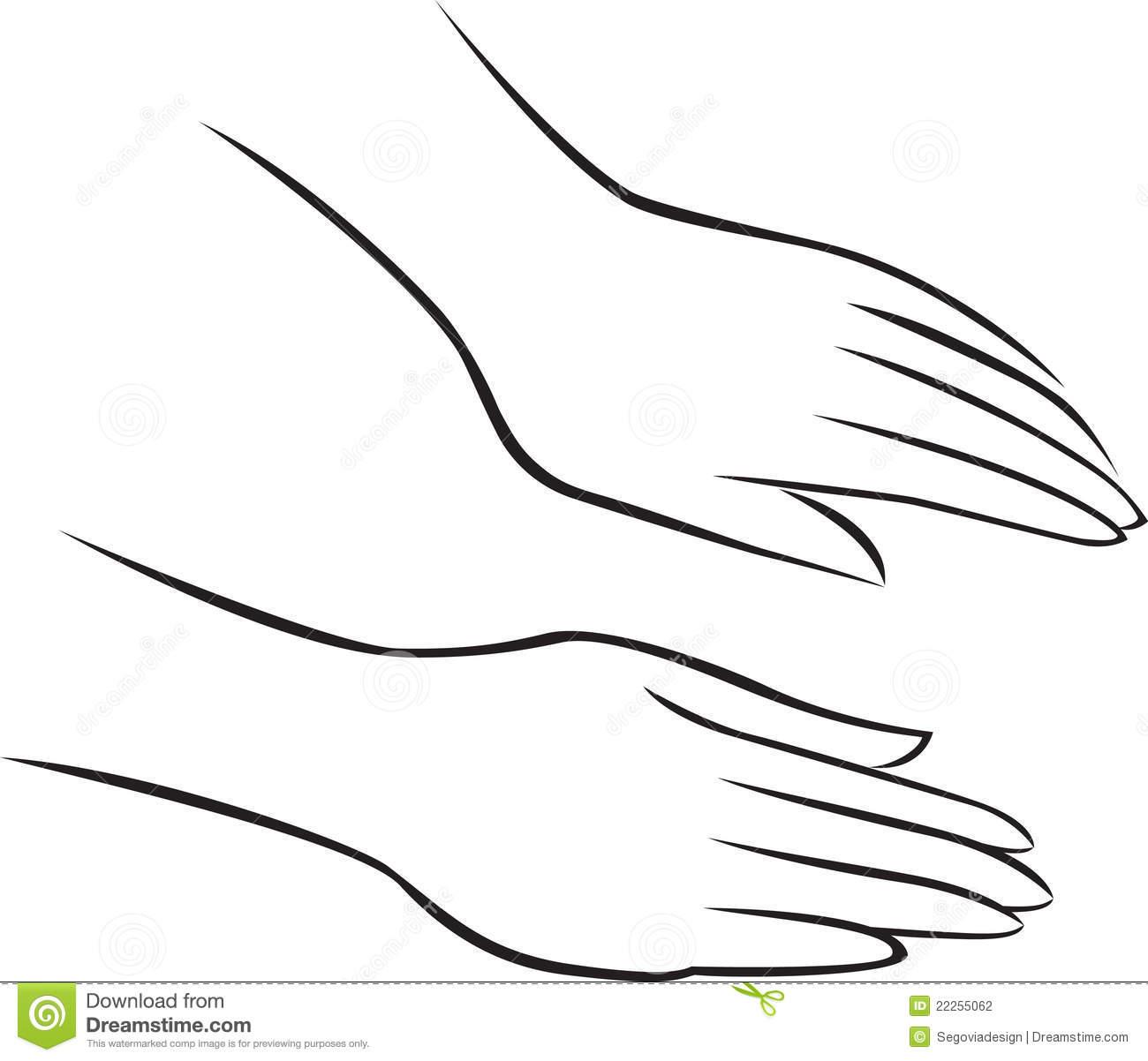 Hand Massage Stock Illustrations.