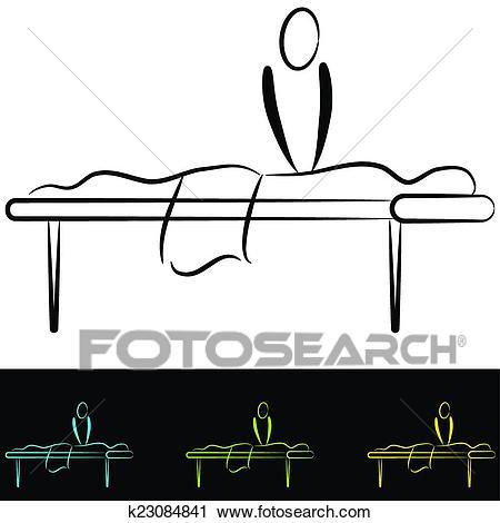 Massage Table Clipart.