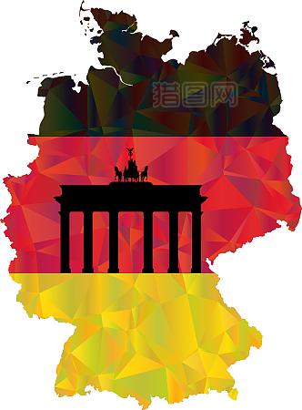 德国em 国旗黑红金国家的颜色欧洲世界杯法国柏林足球杯胜利图片素材_免费.