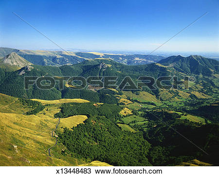 Stock Photo of Massif Central, Auvergne Volcanoes National Park.
