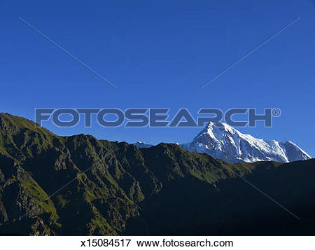 Picture of Trishul Massif from Bedni Bugyal, Garhwal Himalaya.