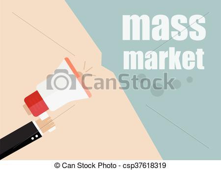 Vector Clip Art of mass market. vector flat design business.