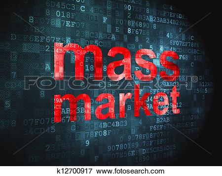 Stock Illustration of Marketing concept: Mass Market on digital.