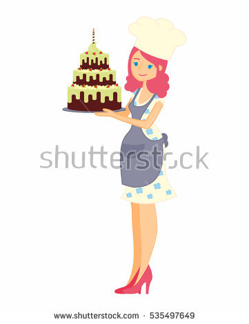 Woman Apron Cupcakes Stock Photos, Royalty.