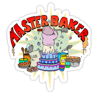 "Master Baker"" Stickers by Skree."