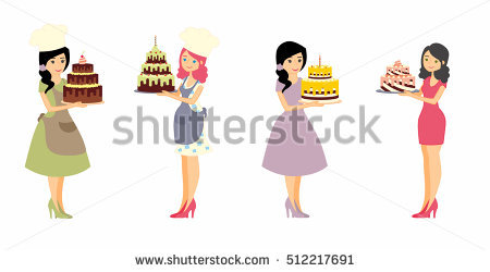 Baker Lady Stock Images, Royalty.