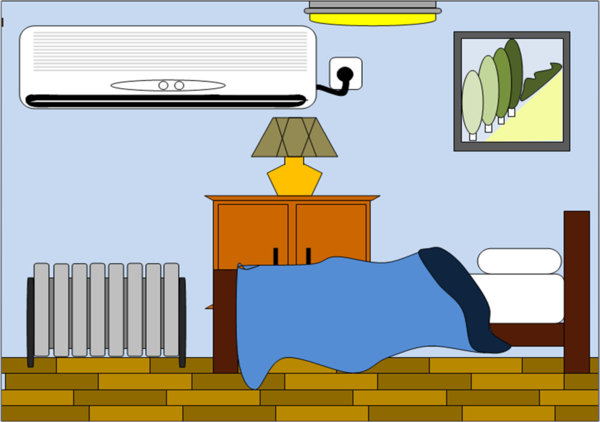 Master bedroom clipart.