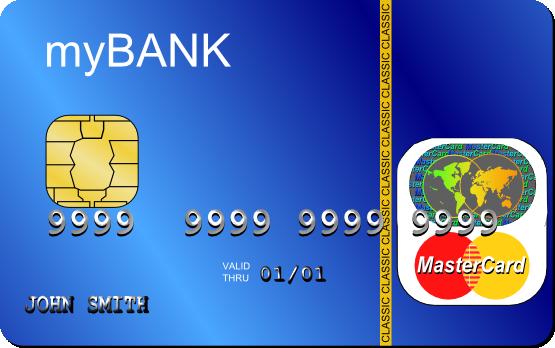 MasterCard Debit Clip Art.