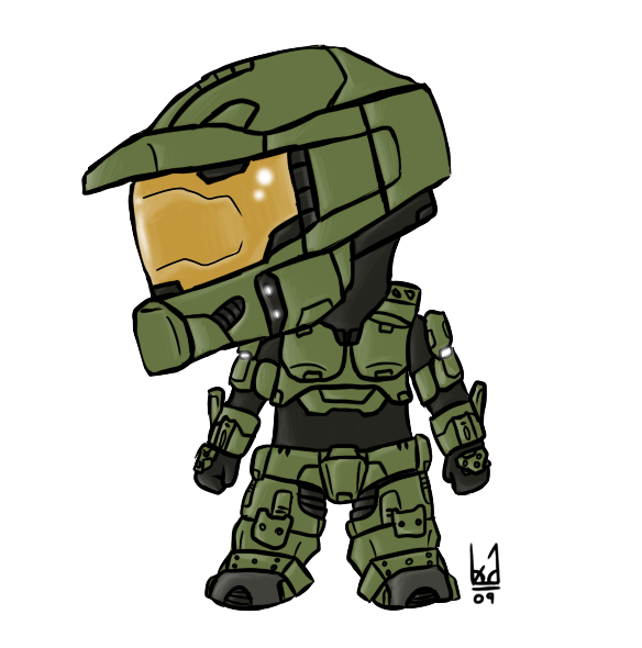 Master Chief Chibi by Blue.