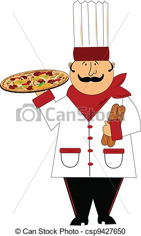 Vector Clipart of master chef.