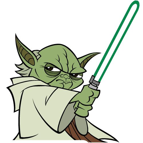 Master Jedi Star Wars Clipart.