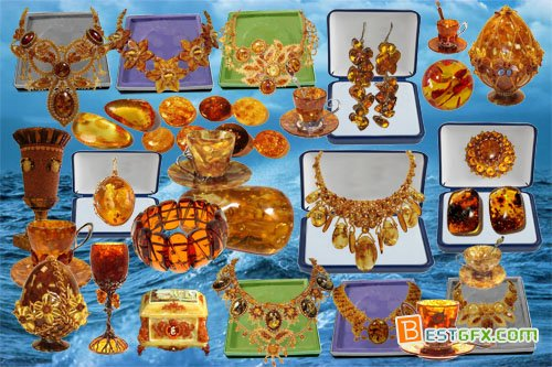 Clipart Amber masterpieces of jewellers » Free Download AE Project.