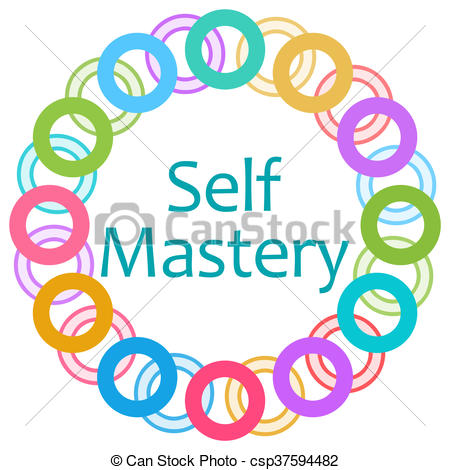 Stock Illustration of Self Mastery Colorful Rings.