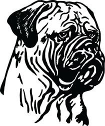 Bull Mastiff Head Dog Clip Art For Custom Pet Lovers Gifts.