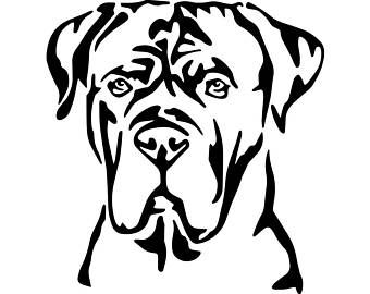 Image result for french mastiff clipart.