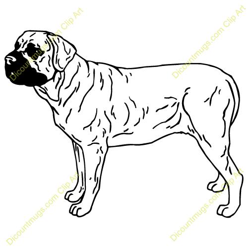 Gallery For > Mastiff Puppy Clipart.