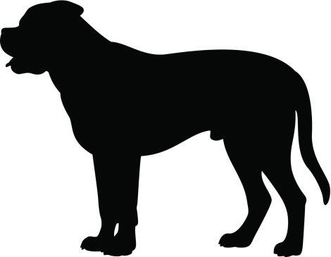 french mastiff clipart.
