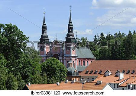 "Stock Photography of ""Pilgrimage church, ?Üwieta Lipka, Warmia."