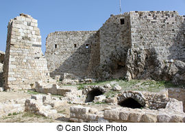 Stock Photography of Castle Masyaf.