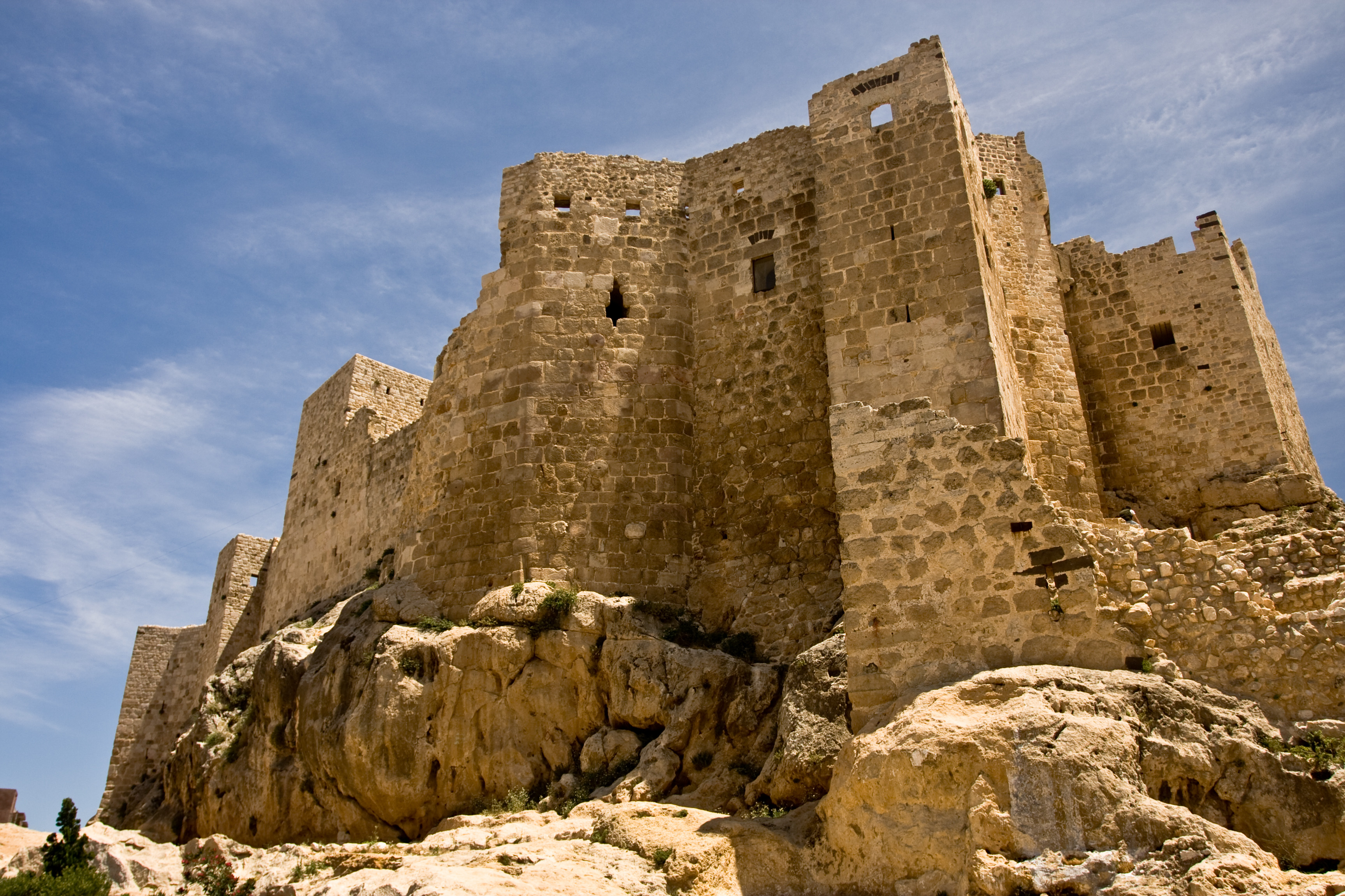 Masyaf Castle, Syria. Belonged to the Syrian wing of the.