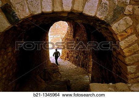 Stock Photo of Syria, Masyaf, entrance gate to the Ismaelien.