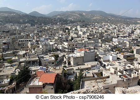 Stock Image of Town Masyaf.