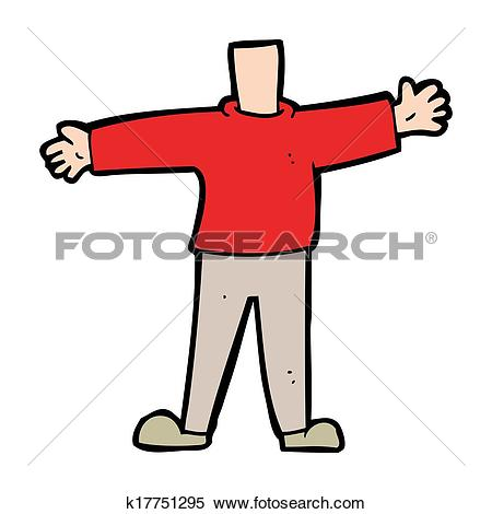 Stock Illustration of cartoon male body (mix and match cartoons or.