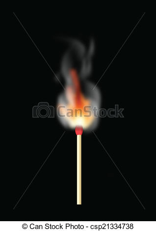 Vectors of MATCH HEAD BEING LIT FLAMES csp21334738.