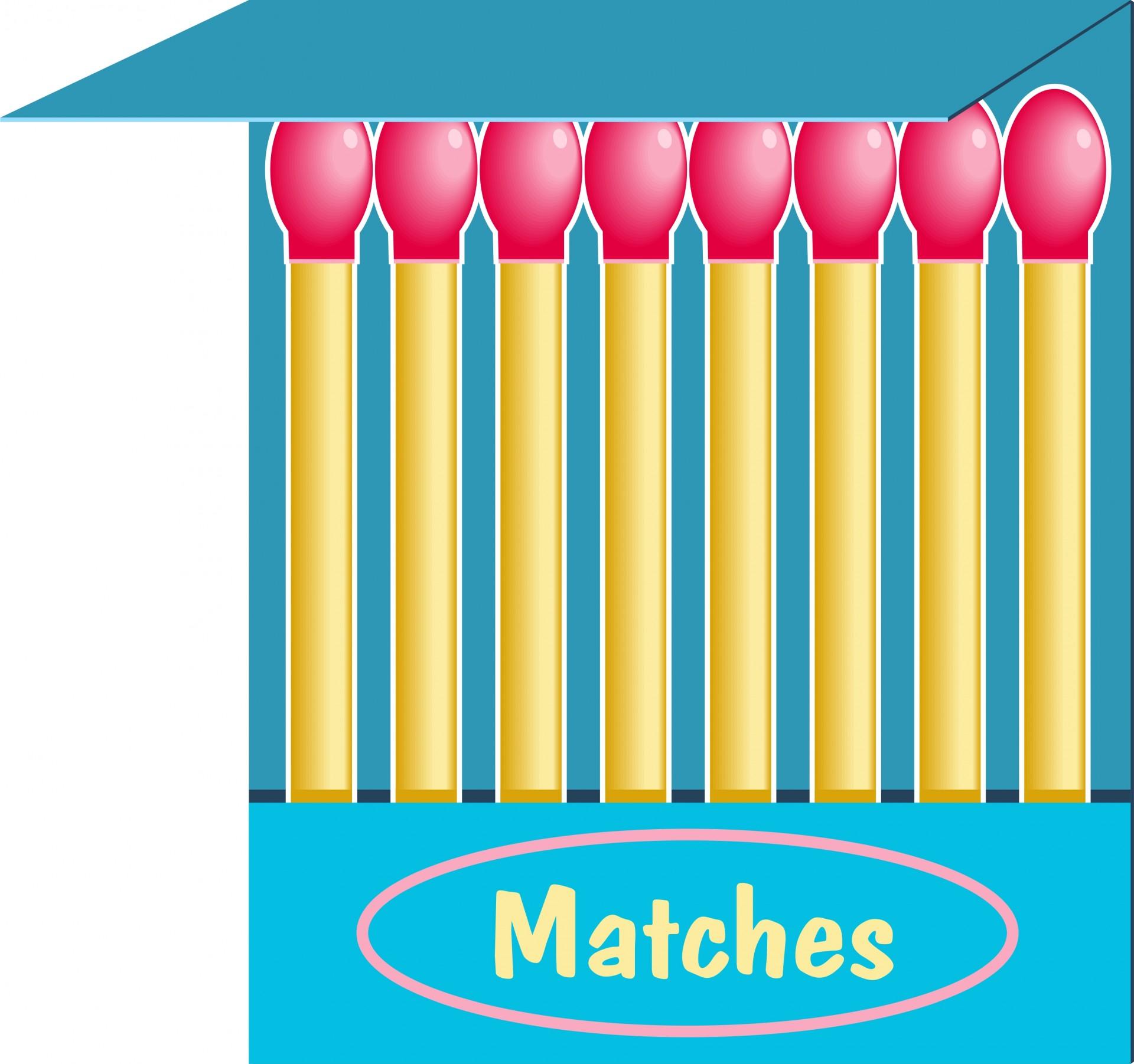 Matches Clip Art Free Stock Photo.