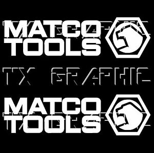 Details about MATCO TOOLS LOGO DECAL STICKER RATCHET WRENCH SOCKET SET.