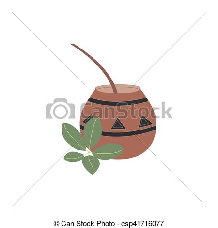 Vectors Illustration of Mate tea vector illustration.