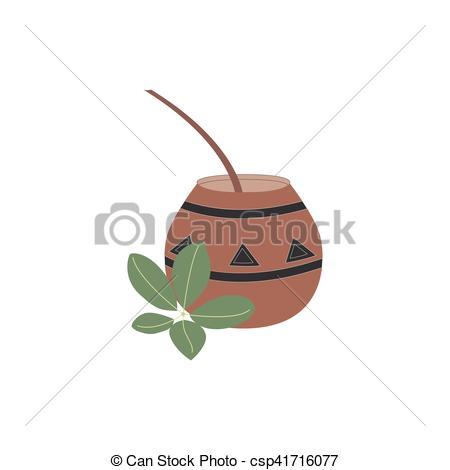 Vectors Illustration of Mate tea vector illustration.