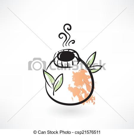 Vector Clip Art of mate tea grunge icon csp21576511.