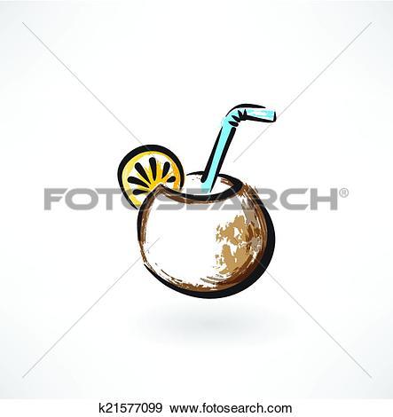 Clip Art of mate tea grunge icon k21577099.
