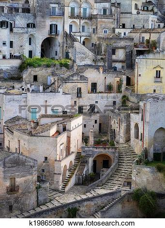 Stock Photography of Matera in Italy k19865980.