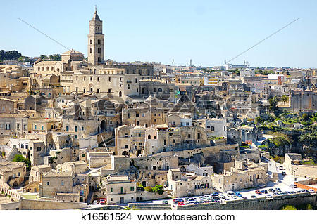 Stock Photo of Matera ancient city panoramic view, Italy k16561524.